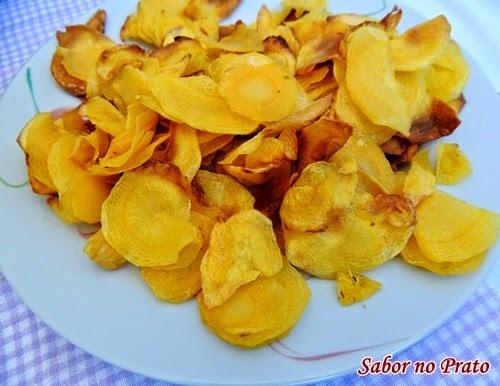 Chips de Mandioquinha na AirFryer - Fritadeira sem Óleo