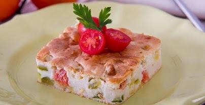 torta de abobrinha verde com sardinha