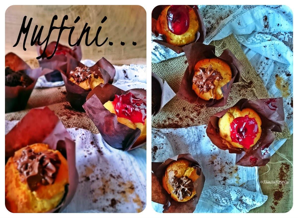 Vanilija muffini s ganachom od čokonaranđe i kremom od višanja...