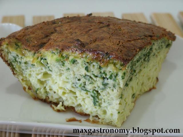 Receita No. 129 - Omelete Cheirinho-Verde de Forno