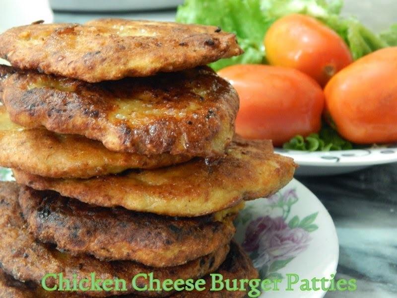 The Best Chicken Cheese Burger Patties Ever!!