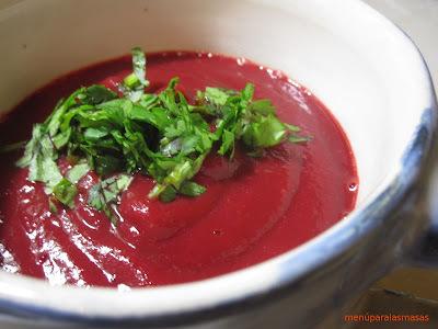 Menú del día: Crema de verduras... con olor a otoño