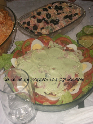 salada para almoço de pascoa