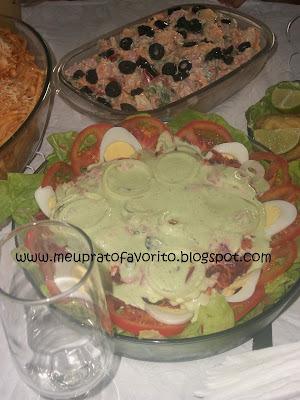 Salada colorida  Continuação almoço de páscoa