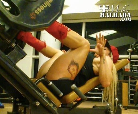 Treino de Quadríceps da Atleta Wellness Geisa Vitorino do dia 21 de junho de 2014