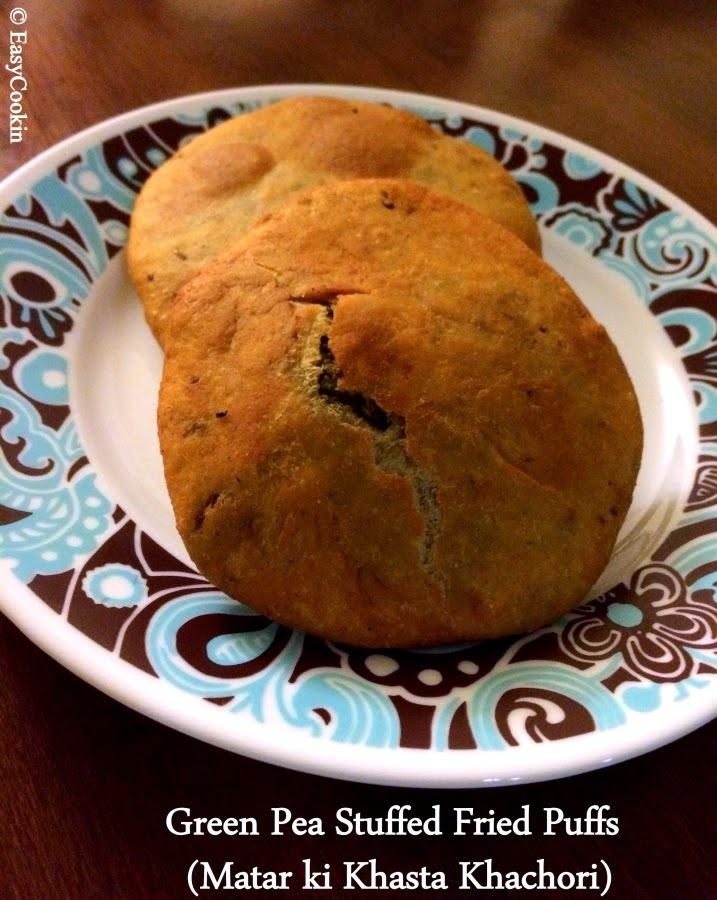 Green Pea Stuffed Puffs (Matar ki Khasta Kachori)