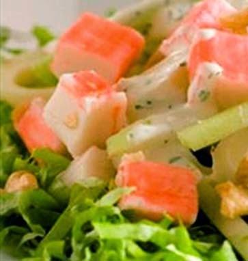 como preparar kanikama en ensalada