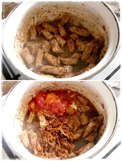 Dusené bravčové v garam masala paradajkovej omáčke s domácim hummusom