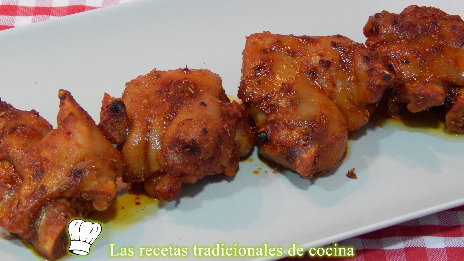 Manitas de cerdo adobadas al horno receta fácil