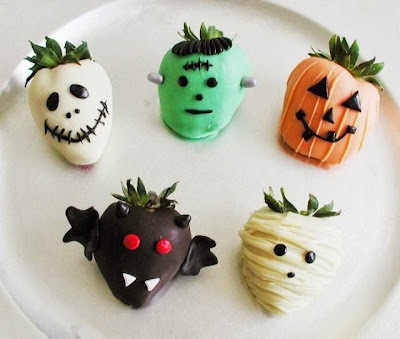 Opciones de postres para barra de Halloween