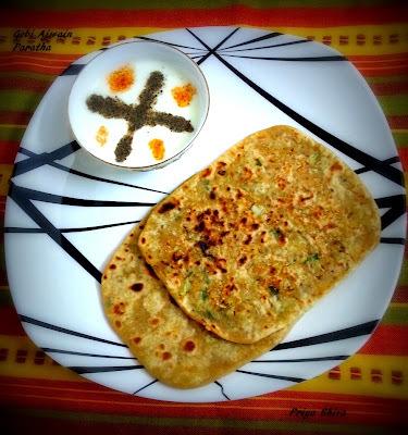 Gobi Ajwain(Cauliflower Carom Seeds) Paratha