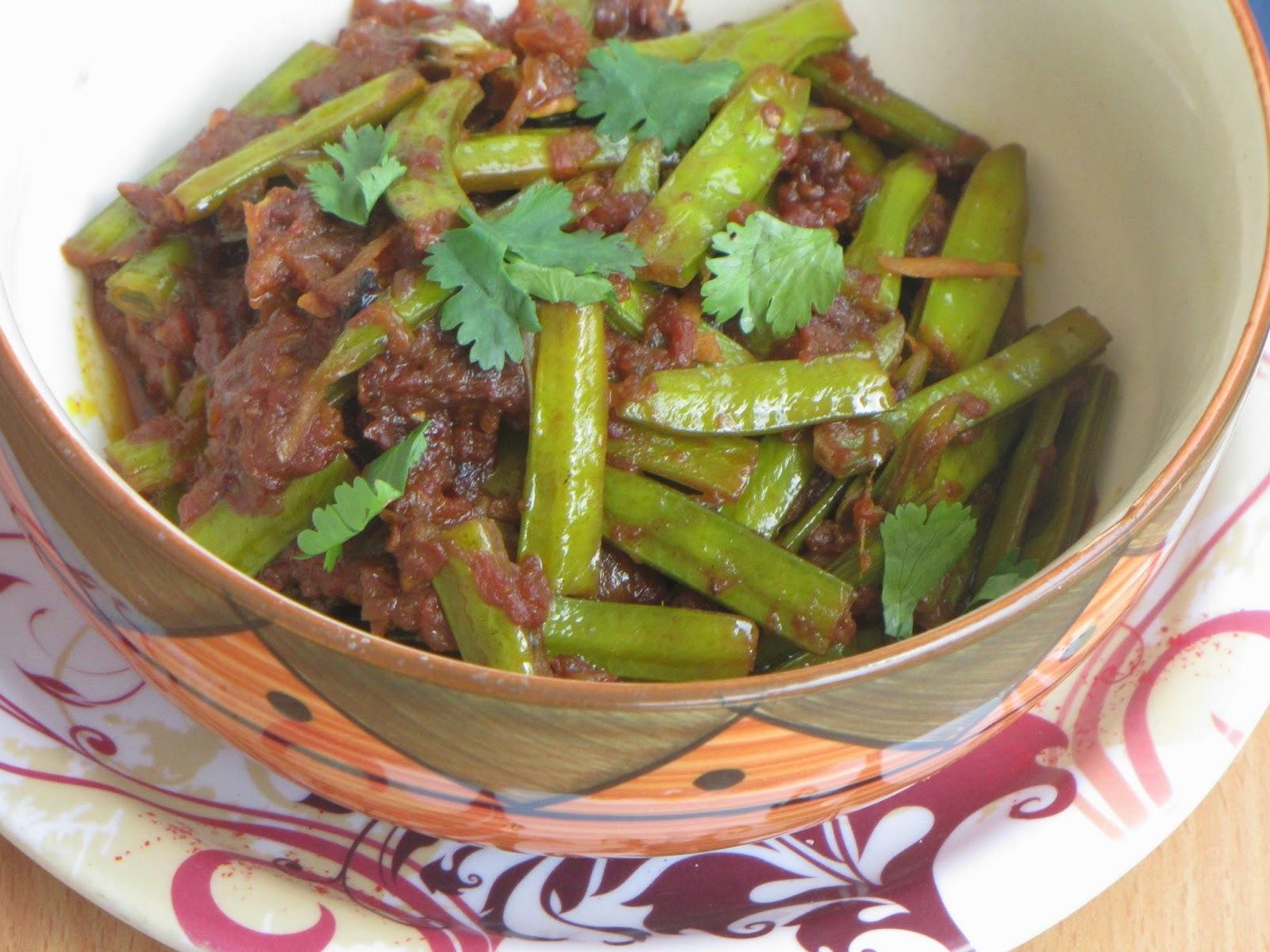 A Dish Of Cluster Beans/Guar Ki Sabzi