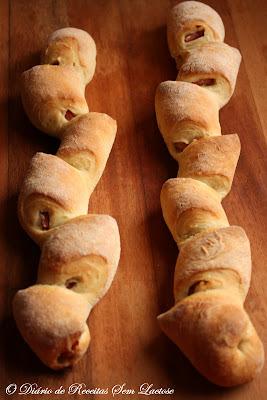Pão com Bacon - Formato de Trigo