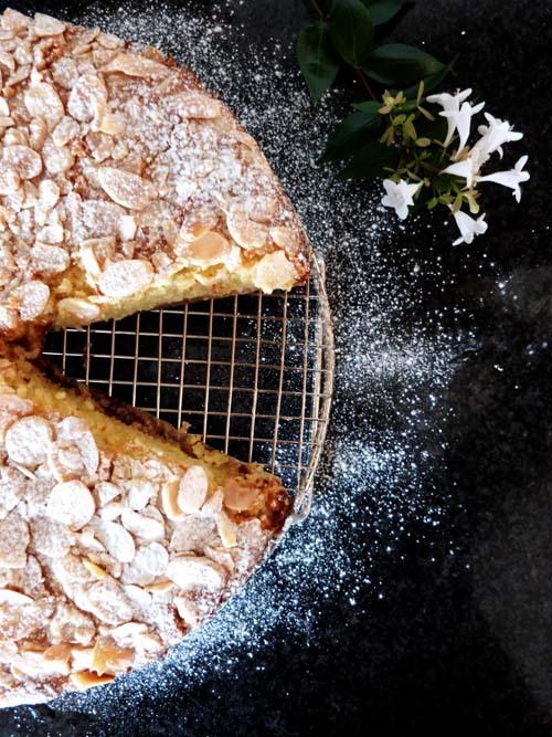torta de limón, almendras y ricota sin tacc