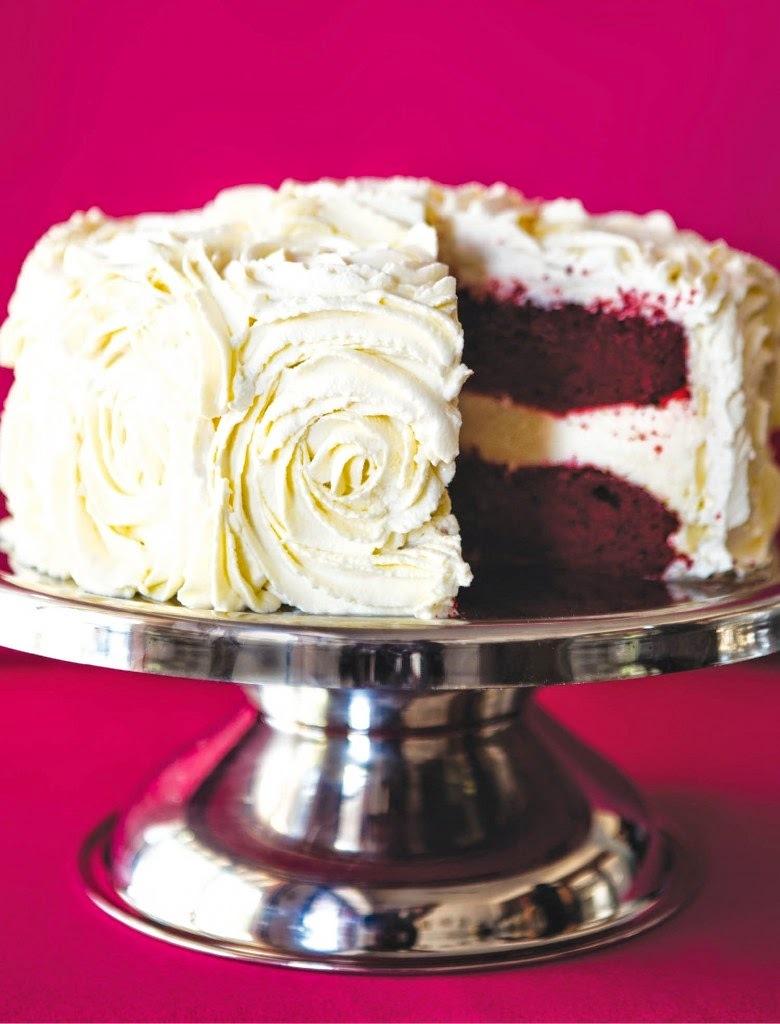 Torta terciopelo rojo de san valetin