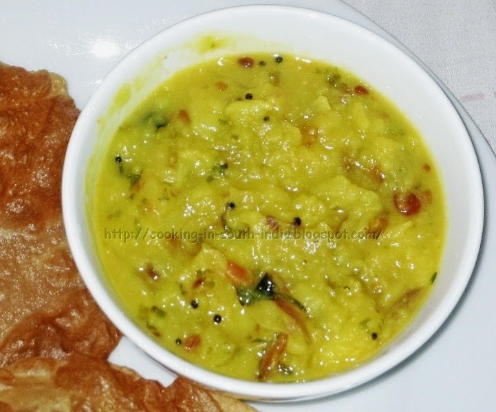 Aloo Poori Masala / Potato Gravy