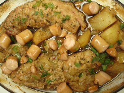 Filé Mignon Suíno Assado com Batatas (Simples, Saboroso, Suculento!)