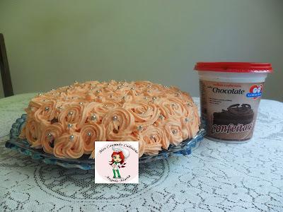 creme de chocolate branco para recheio de bolo