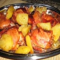 coxa e sobrecoxa assada com batata