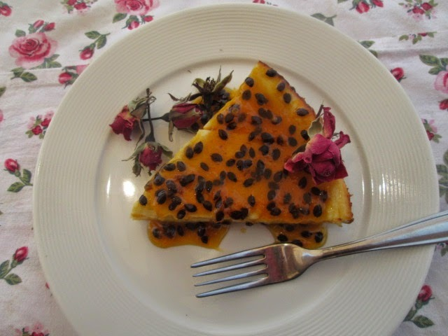 Passionfruit and ricotta cheesecake   (Cheesecake de Maracuyá)