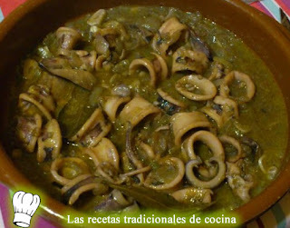 Receta de calamares con salsa Albufereta