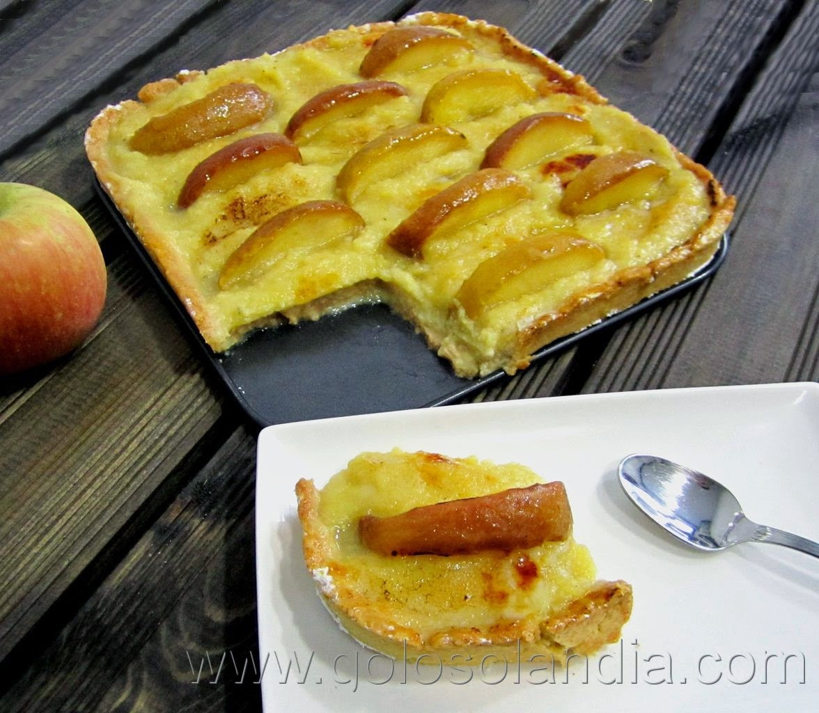 Tarta de crema de manzana