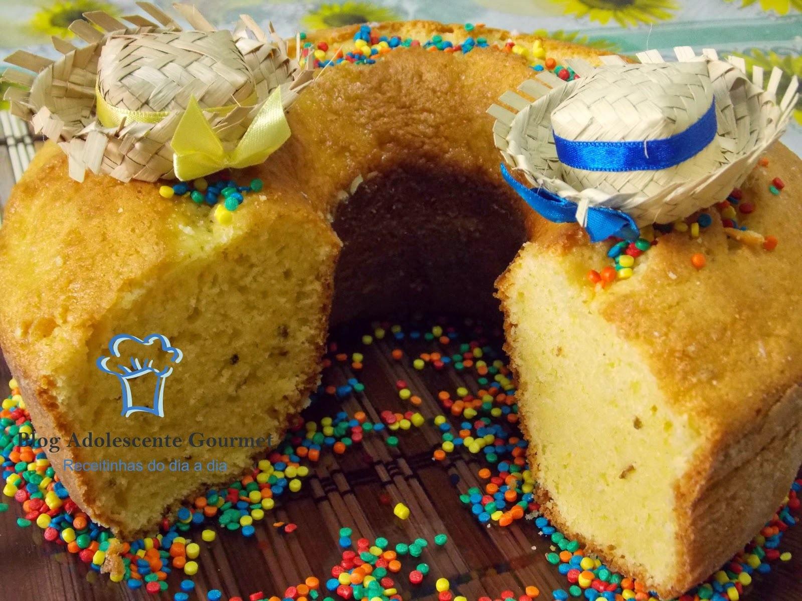 bolo de fuba feito a mão