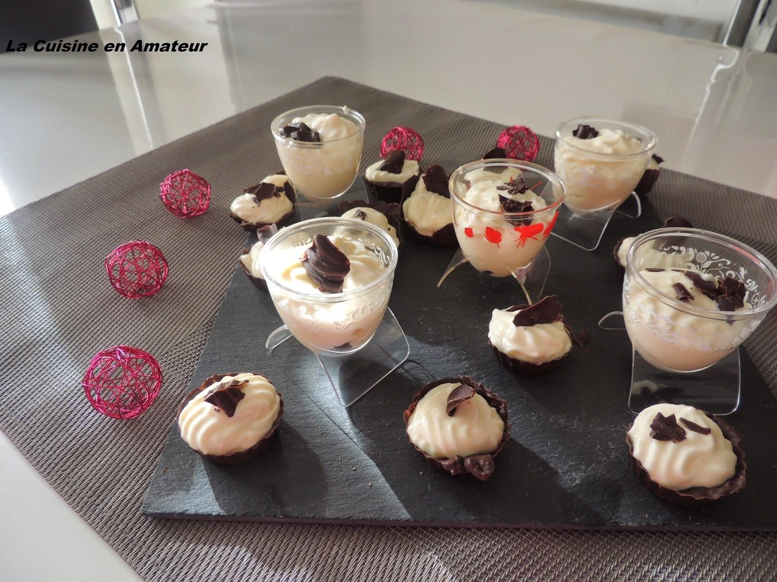 Mini coque en chocolat et mousse mascarpone