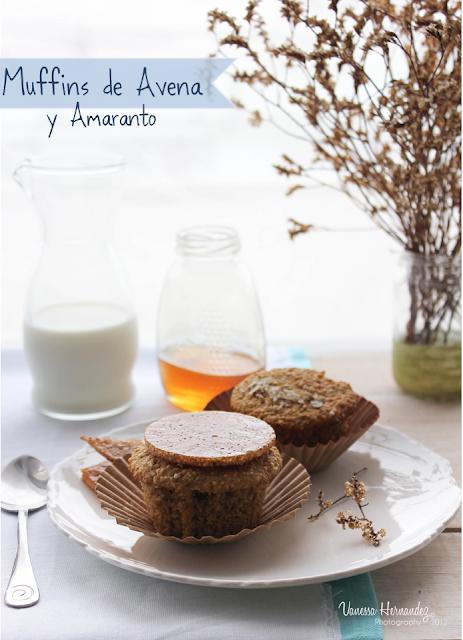 Muffins de avena y amaranto
