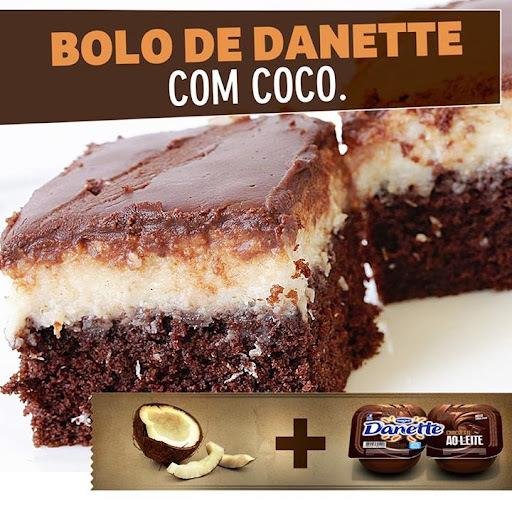 Bolo de Danette com Coco