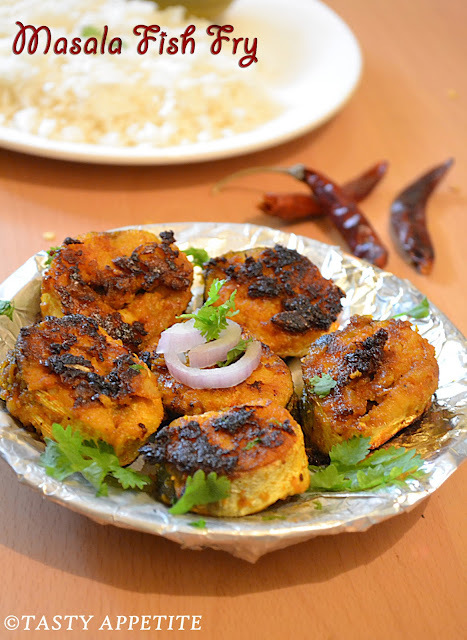 How to make Masala Fish Fry / South Indian Fish Fry recipe / easy step by step :