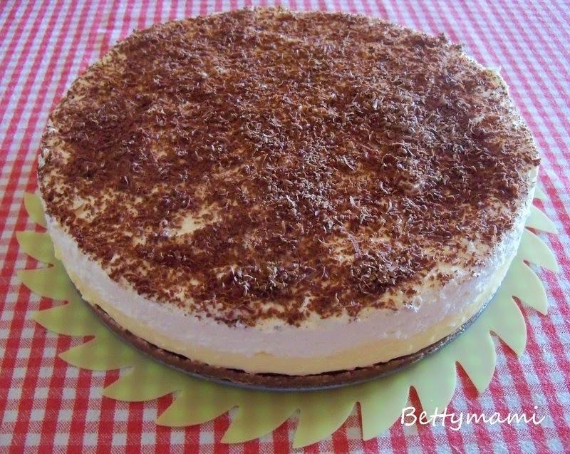 Pudingkrémes habos torta - Sütés nélkül