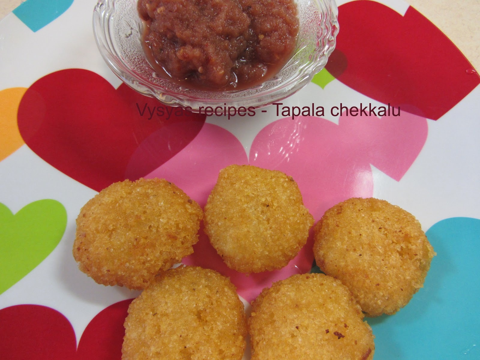 Instant Thavala vadai - tapala chekkalu - With onion chutney- (with pictures)
