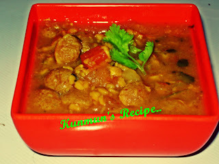 CHANA DAL WITH SOYA NUGGETS CURRY