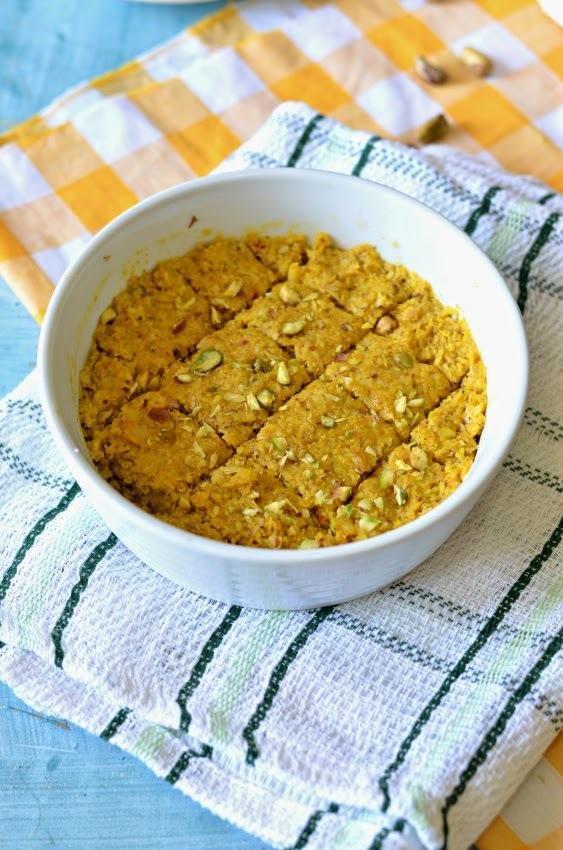 Mango coconut Barfi :: Vegan Mango Fudge :: Kopra Pak