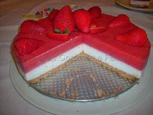 Torta fria de morango