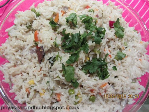 Qucik & Simple Vegetable Pulav in 3 steps