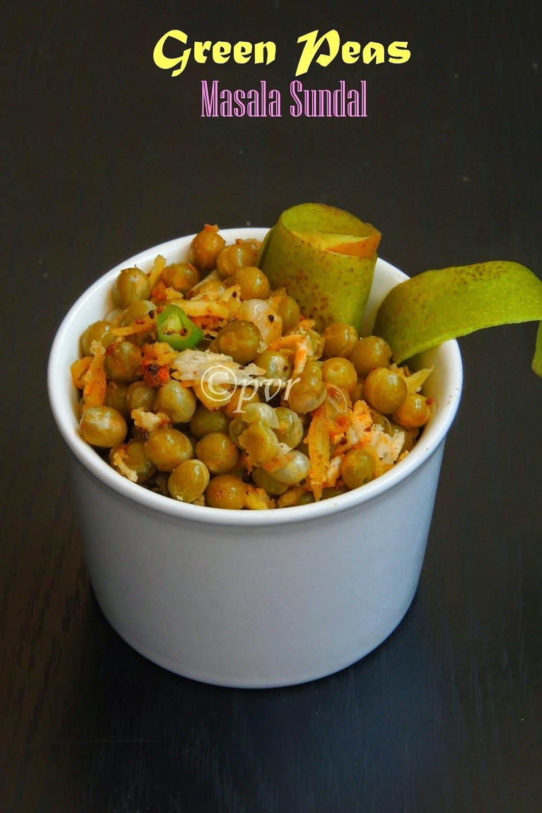 Green Peas Masala Sundal