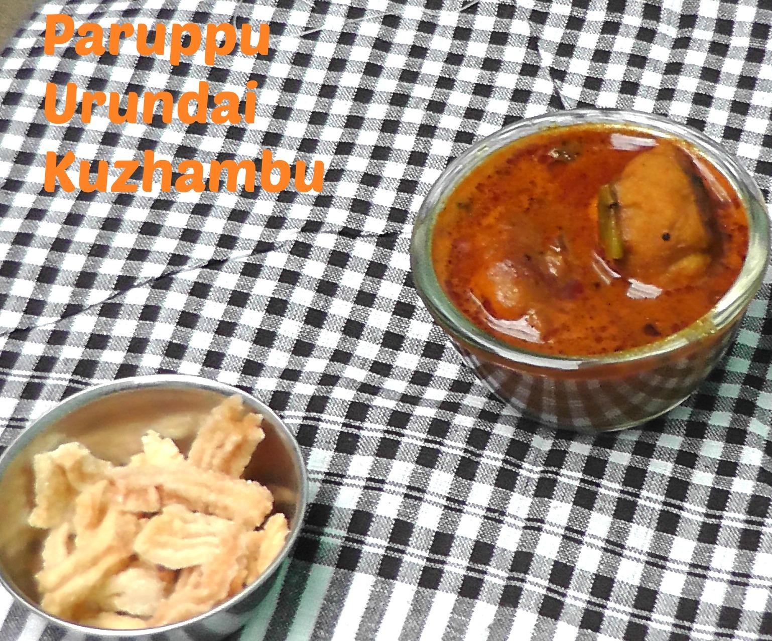 Paruppu Urundai Kuzhambu | Steamed Lentil Balls In A Tangy Sauce