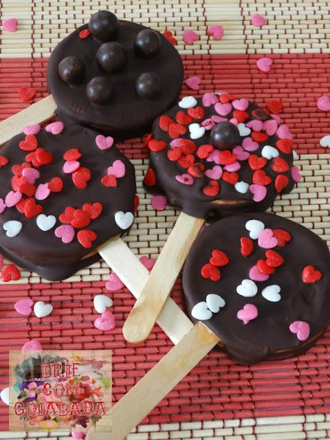 Pirulitos de Biscoito - Falso Alfajor