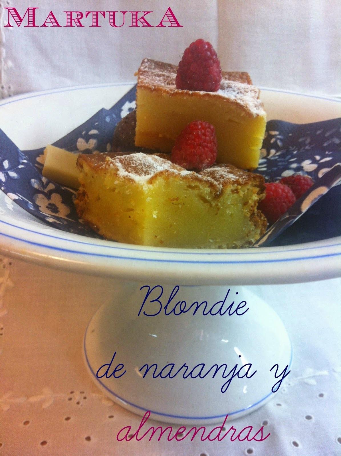 Blondie De Naranja Y Almendras