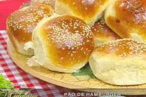 Pão de Hambúrguer (Com fermento natural)