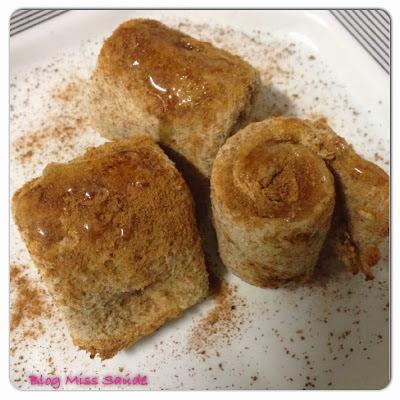 Enroladinhos doce de pão integral