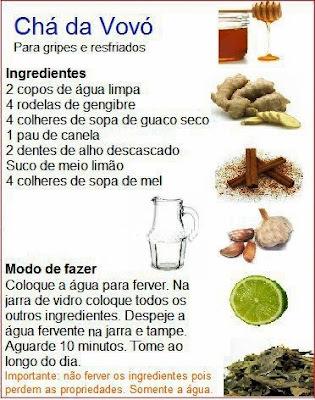 Gripes e Resfriados - Receitas Naturais