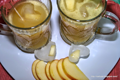 Juicing in - a refreshing juice with apples