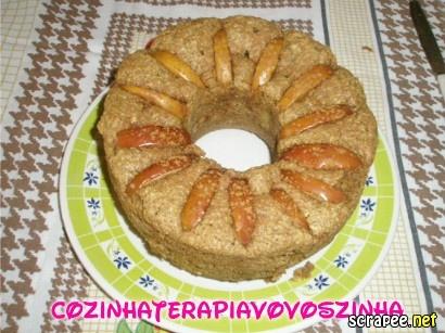 bolo de aveia com banana e maça