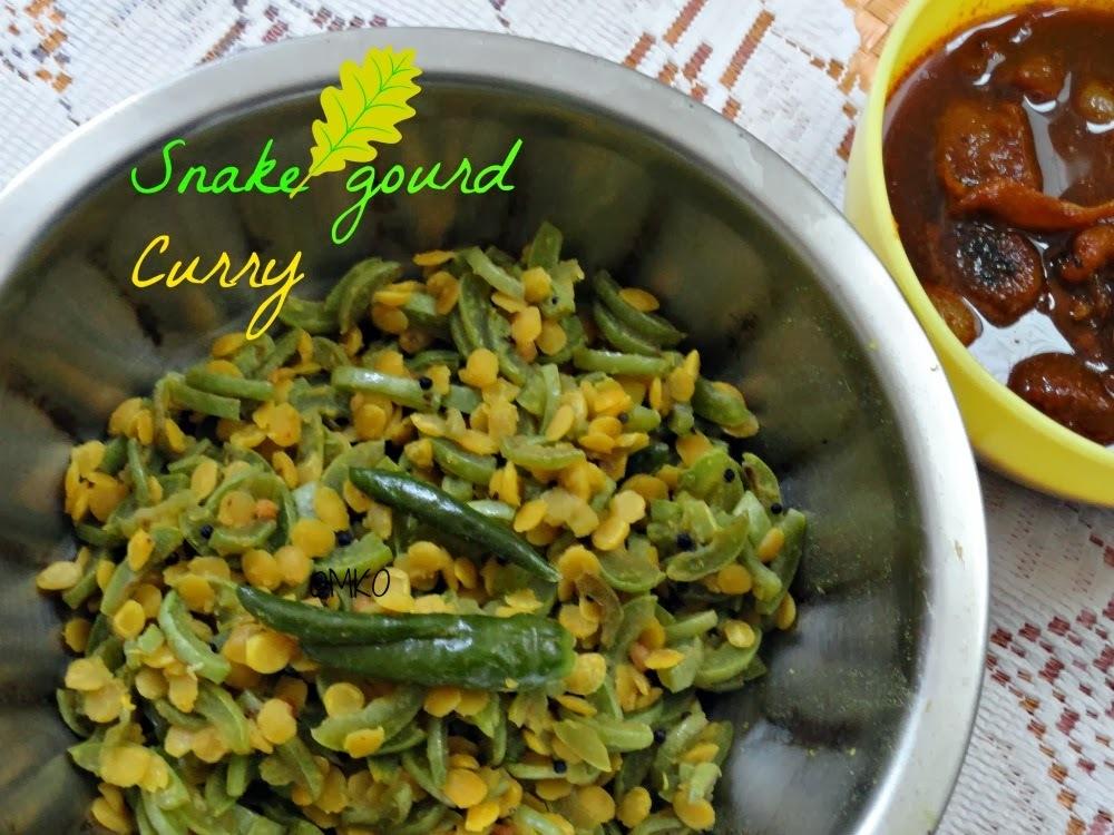 Snake Gourd Curry/Easy SideDish Recipe/புடலங்காய் துவட்டல்