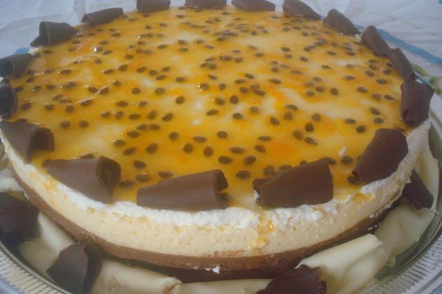 torta de chocolate com mousse de maracuja