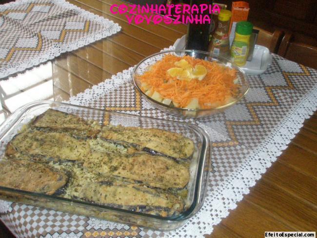 Terrine de berinjela e salada arco-iris