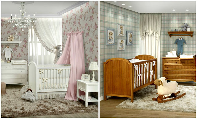Quartos para bebês com estilo rústico